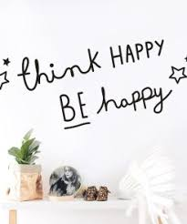 Think Happy Be Happy Quotes Wall Sticker Home Decor Living Room Bedroom Kids Room Decal Wall Mural Muraux Stickers On The Wall Daisy S Corners