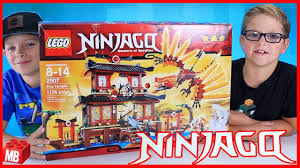Lego NINJAGO Fire Temple Unboxing Build Review PLAY! Opening Older ...