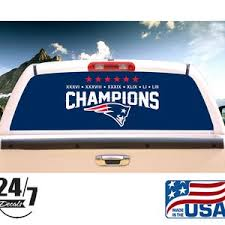 New England Patriots Rear Window Graphic Perf Decal Tint Print Etsy