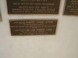 Albert (Addie) MYERS William Robert LEFIO, d 26-05-1915 War Memorial, Elsie  Laver Park, Mudgeeraba
