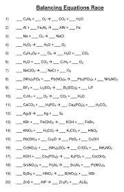 balancing chemical equations mr