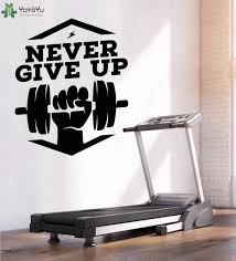 Wall Decal Gym Logo Wall Sticker Fitness Quotes Never Give Up Vinyl Art Decor Man Sports Pattern Removable Mural Diy Decorating With Wall Decals Decoration Stickers For Walls From Onlinegame 11 85 Dhgate Com