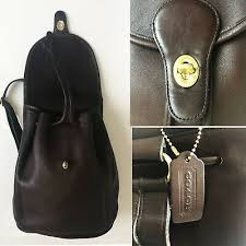 backpack 9943 mocha brown leather htf