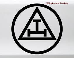 Triple Tau Vinyl Sticker Royal Arch Mason Emblem Symbol Die Cut Decal