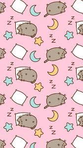 iphone wallpapers sleeping pusheen