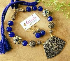 radha krishna pendant necklace set