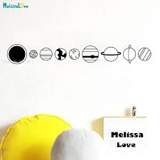 Planet Wall Decals Outer Space Murals Kids Room Decor Nursery Decor Space Bedroom Sun Earth Art Poster Gift Bedroom Yt1556 Wall Stickers Aliexpress