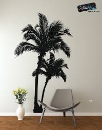 Palm Tree Decal Wall Sticker From Stickerbrand 7ft Tall 84in Tall X 49in Wide Black Homedecor Vinyl Wall Decals Wall Decals Living Room Vinyl Wall