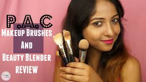 pac makeup brushes and beauty blender