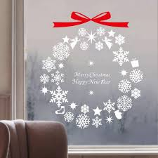 Christmas Gift Snowflake Wind Chime Stickers Christmas Tree Bow Wall Stickers Home Wall Decoration Window Wall Stencils And Decals Wall Stencils Stickers From Fair2015 20 83 Dhgate Com