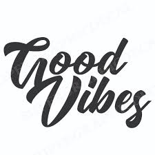 Good Vibes Logo Diecut Vinyl Decal Sticker Super Graphic Decal