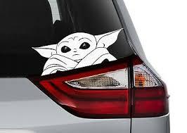 Baby Yoda Decal Sticker Multiple Colors Mandalorian Star Wars Ebay