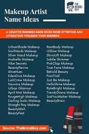 makeup name ideas for insram