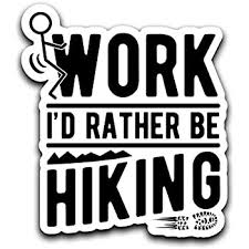Happy Trails Hiker Vinyl Decal Sticker D Sports Outdoors Car Vehicle Accessories
