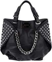 pierre balmain black studded leather