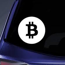 Amazon Com Bargain Max Decals Bitcoin Sticker Decal Notebook Car Laptop 6 White Automotive