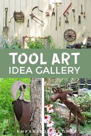 turn old tools into garden art 20