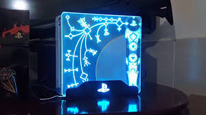 God Of War Ps4 Pro Skin Lights Up Awesome Gaming