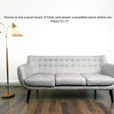 Psalm 51 10 Bible Wall Quote Divine Walls