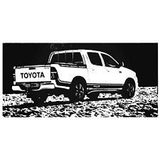 Toyota Hilux Edge Graphic Vinyl Decal Sticker