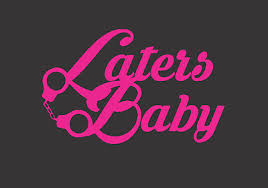 Laters Baby 50 Shades Of Grey Handcuff Window Decal 50 Shades Darker Ebay