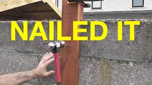 How To Fit A Post To A Concrete Block Wall Yourself Youtube