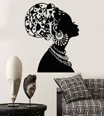 Vinyl Wall Decal African Girl Black Woman In Turban Native Stickers Unique Gift 1545ig Vinyl Wall Decals African Girl Wall Decals