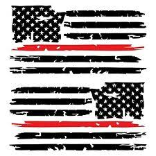 Set Of 2 Large American Flag Durable Quality Gloss Vinyl Decal Stickers 18 X12 For Sale Online Ebay