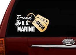 Proud Us Marine Mom Vinyl Car Decal Sticker 7 5w W Etsy