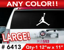 Jordan Wall Car Decal Sticker 12 X 11 In Any 1 Color Ebay