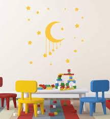 Moon And Stars Baby Room Vinyl Decor Wall Decal Customvinyldecor Com
