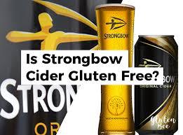 is strongbow cider gluten free glutenbee