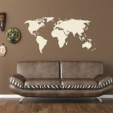 World Map Wall Decal Educational Wall Decal Map Sticker Vinyl Wall Art Geography Decor 1092 Red 59in X 30in Walmart Com Walmart Com