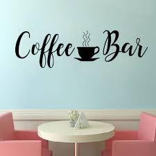 Cafe Wall Stickers Coffee Shop Vinyl Decals Cups Decal Kitchen Room Decoration Removable Bar Sticker Quote Wall Stickers Aliexpress