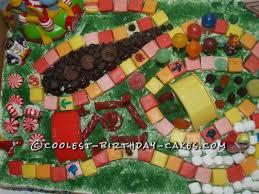 cool homemade candyland birthday cake