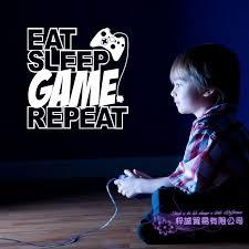 Eat Sleep Play Game Vinyl Wall Decals Vinyl Decals Video Gamer Decal Game Room Decal Wall Stickers Murals