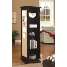 swivel cabinet with storage shelves