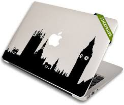 London Skyline Apple Macbook Pro 15 Decal Black 15 Inch
