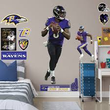 Lamar Jackson Baltimore Ravens Fathead 13 Pack Life Size Removable Wall Decal
