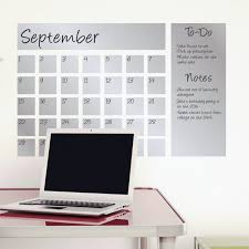 Dry Erase Calendar Decal Silver Writable Wall Calendars Touch Of Modern