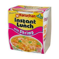 lunch with shrimp ramen noodles