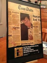 big 11x17 framed tom waits heart