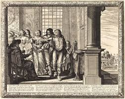 Abraham Bosse, French 1602-1676, The Prodigal Sons Father Drawing by Litz  Collection