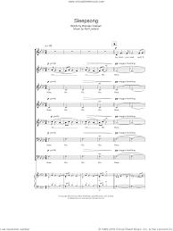 sleepsong sheet for choir pdf