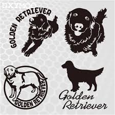 Golden Retriever Car Stickers Family Pet Dog Motorcycle Auto Window Tail Vinyl Decal Bumpers 3m Car Sticker Car Sticker Familyvinyl Decal Aliexpress