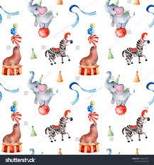 Ilustracion De Stock Sobre Bonito Patron De Circo Textura Sin 1353471851