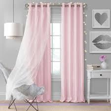 Elrene Home Fashions Aurora Kids Room Darkening Layered Sheer Window Curtain 24296sfp The Home Depot