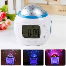 Music Snooze Alarm Clock Kids Room Calendar Thermometer Night Light Projector Us Home Garden Alarm Clocks Clock Radios