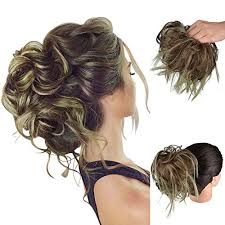 FESHFEN Tousled Updo Messy Hair Bun Hairpiece, Fluffy Hair Bun Extension  Curly Messy Bun Hair Piece Synthetic Ponytail Hair Scrunchies with Elastic  Rubber Band For Women   WantItAll