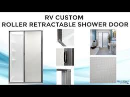 rv custom retractable shower door recpro